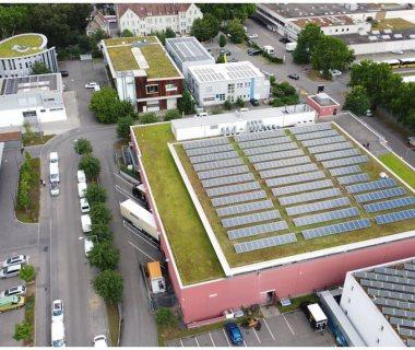 16 Advanced Solar Garden Roof Solution on Warehouse