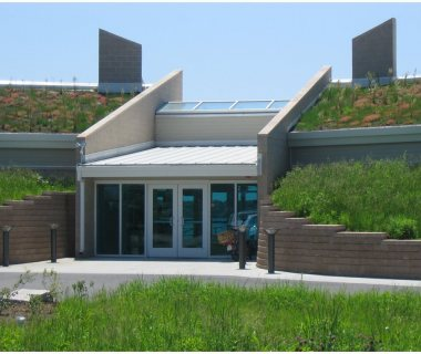 89 Visitor Center with native Green Roof Plants
